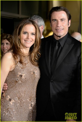john-travolta-kelly-preston-vanity-fair-oscars-party-2013-02